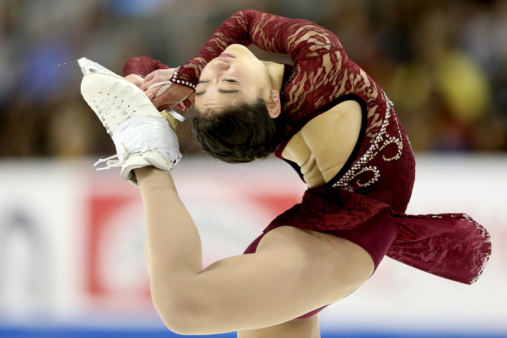 Mirai Nagasu competes in the Ladies Short Program during the 2018 Prudential U.S. Figure Skating Championships at the SAP Center on January 3, 2018 in San Jose, California.