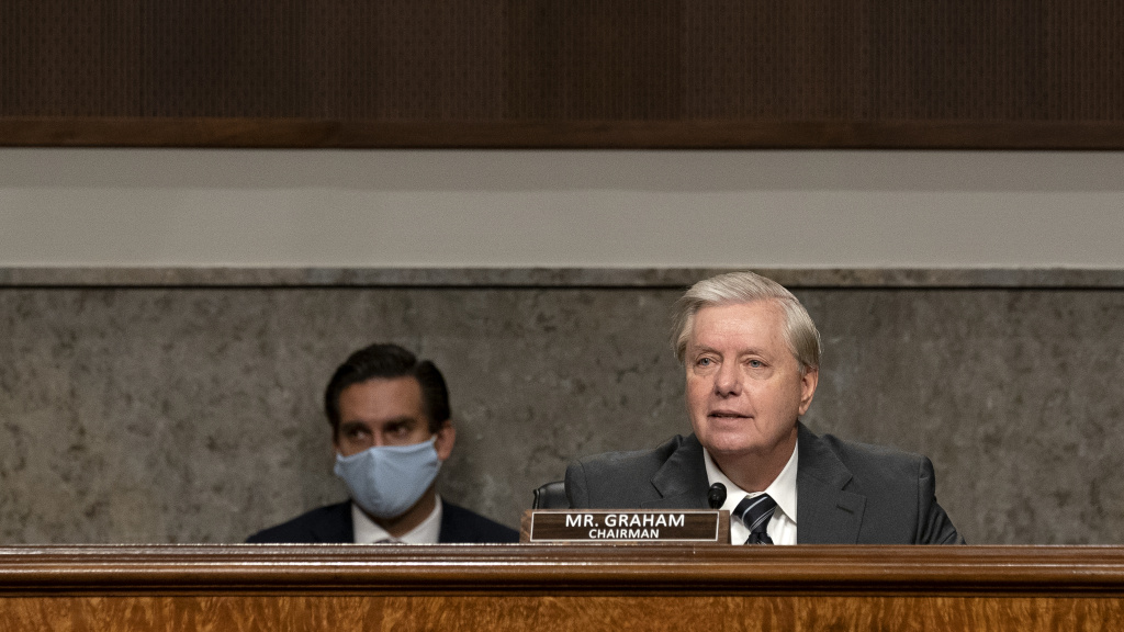 Sen. Lindsey Graham, R-S.C., will preside over confirmation hearings for Judge Amy Coney Barrett — President Trump's third nominee to the Supreme Court.