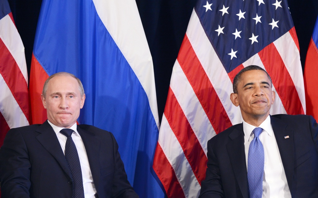 Russian president Vladimir Putin and President Obama share a tense moment at the G20 Summit