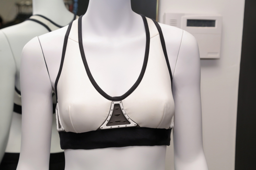 Chromat Aeros Connect Sports Bra, powered by Intel Inside, shown during New York Fashion Week on September 9, 2016.