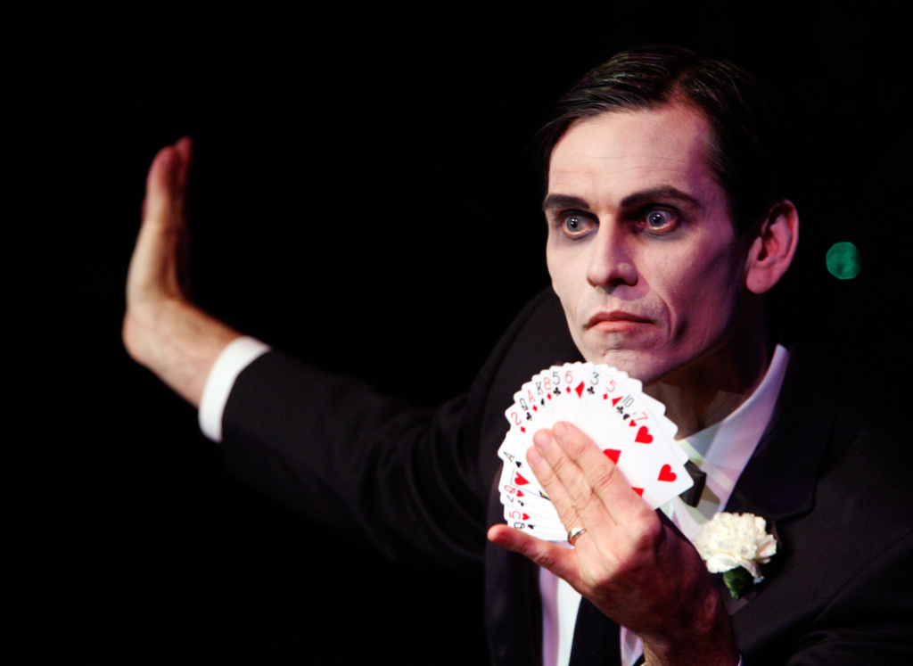 Magician Rob Zabrecky performs at the 40th Annual Academy Of Magical Arts Awards held at the Beverly Hilton Hotel on April 6 2008 in Beverly Hills, California.