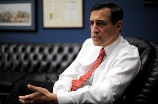 US Republican Representative Darrell Issa of California on Capitol Hill in Washington, DC.