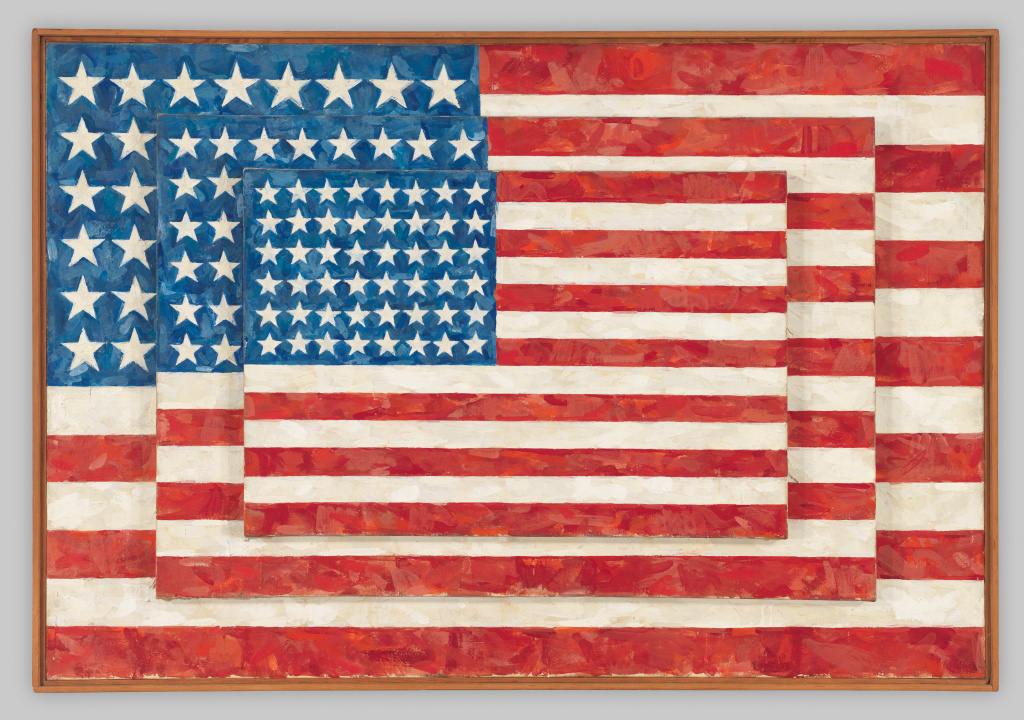 Jasper Johns, Three Flags, 1958. Whitney Museum collection