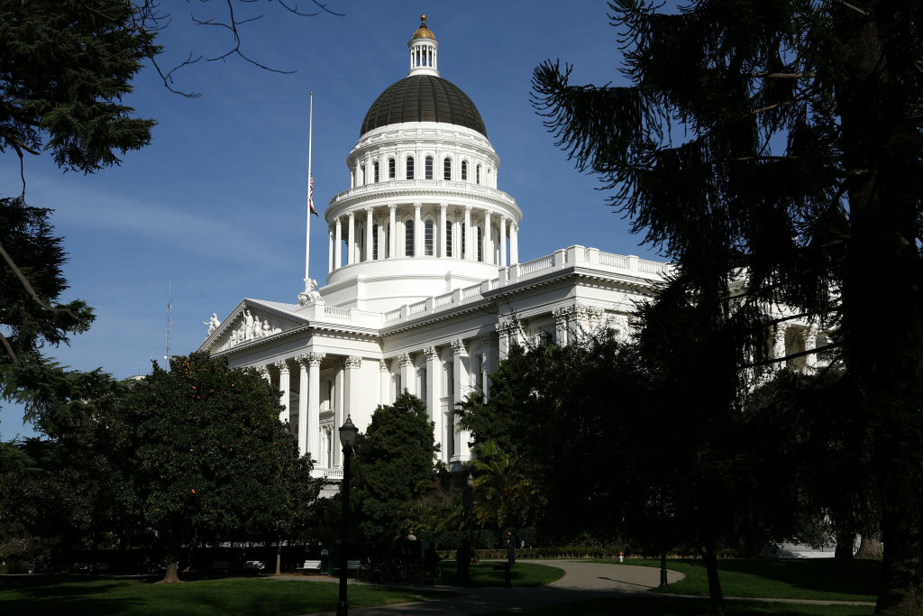 A view of the California State Capitol. The budget outlook is improving for the Golden State, but that doesn't mean there will soon be a lot of money on the bank.
