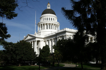 A view of the California State Capitol in Sacramento.