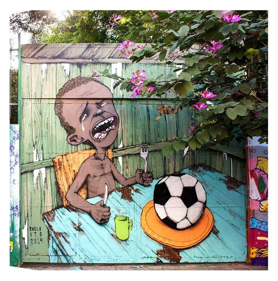 Brazilian street artist Paul Ito's mural.