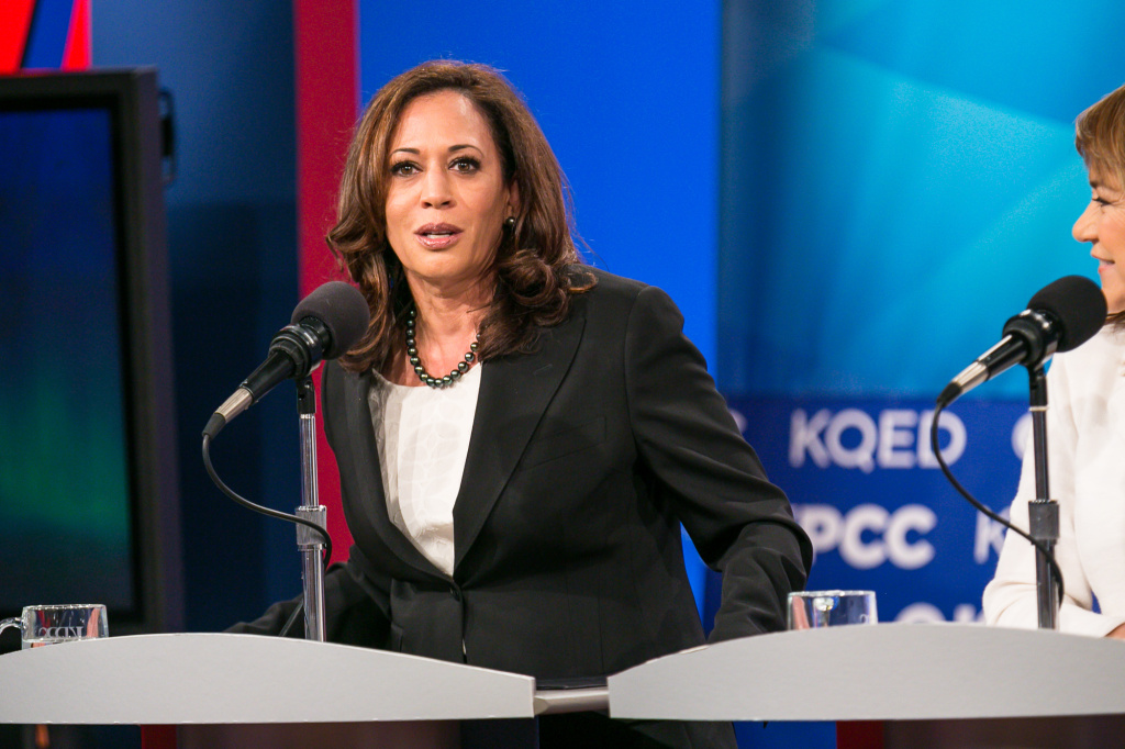 California Attorney General Kamala Harris at a U.S. Senate debate at KPBS in San Diego, May 10, 2016.