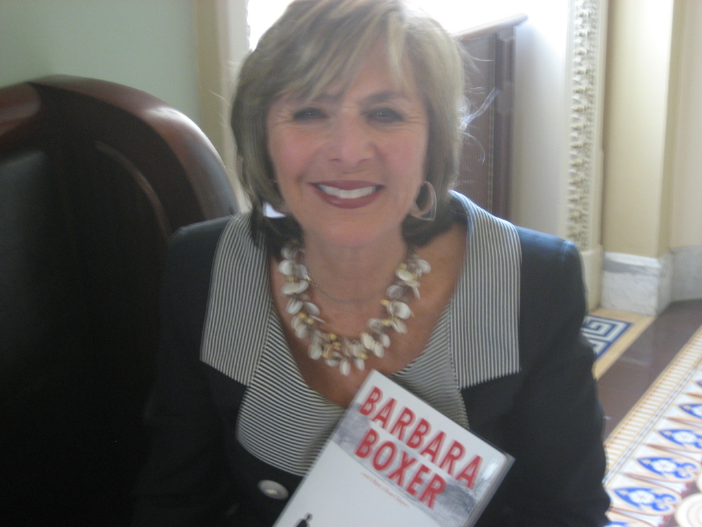 US Senator and Novelist Barbara Boxer