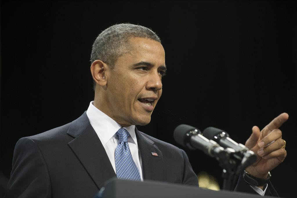 US President Barack Obama delivers remarks on immigration reform at Del Sol High School in Las Vegas, Nevada, January 29, 2013.