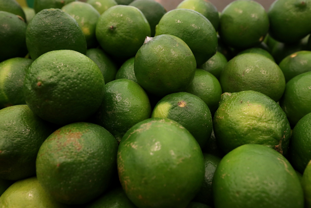 Limes are displayed at Cal-Mart Grocery on March 27, 2014 in San Francisco, California. Food prices are on the rise and expected to keep edging up throughout the year as the drought and other factors have impacted the availability and cost of groceries like coffee, milk, limes and pork.