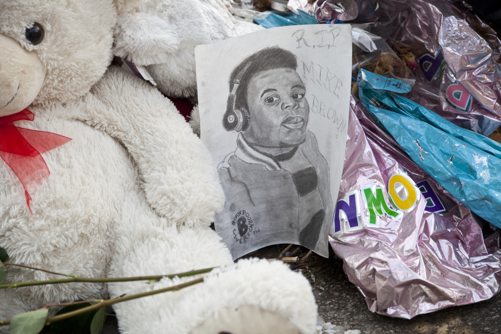 "A memorial for Michael Brown Jr. in Ferguson, Missouri featured in ""Whose Streets?"""