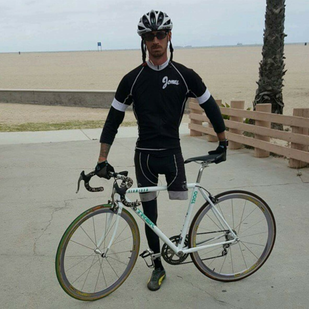 Moe Lolley lost most of his left leg to a car accident nine years ago, but he'd rather bicycle than drive a car.
