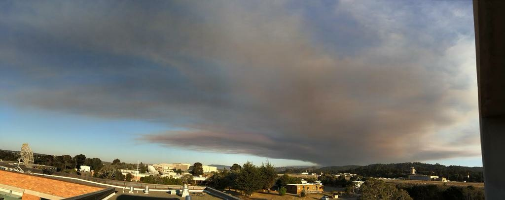 An image of the Tassajara Fire which burned a number of homes in Monterey County last week.