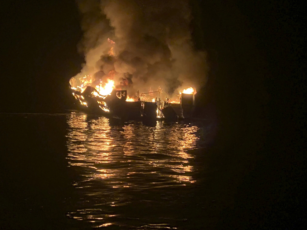 The captain of the dive boat that caught fire last September was charged with 34 counts of seaman's manslaughter after prosecutors found his failure to follow safety rules during the three-day diving trip resulted in the death of 33 passengers and one crew member.