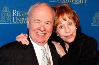 Television legends Carol Burnett and Tim Conway