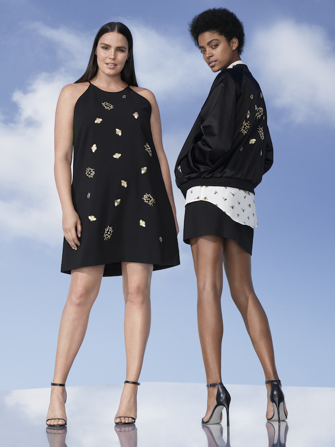 Models display styles from the Victoria Beckham for Target line.