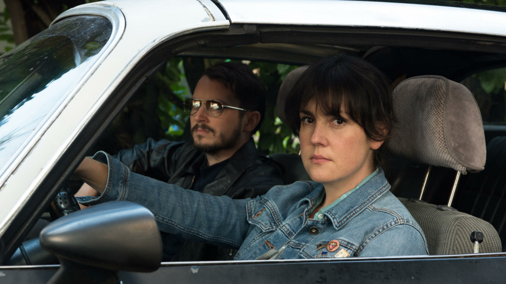 Elijah Wood and Melanie Lynskey star in the new movie, 'I Don't Feel at Home in This World Anymore.'