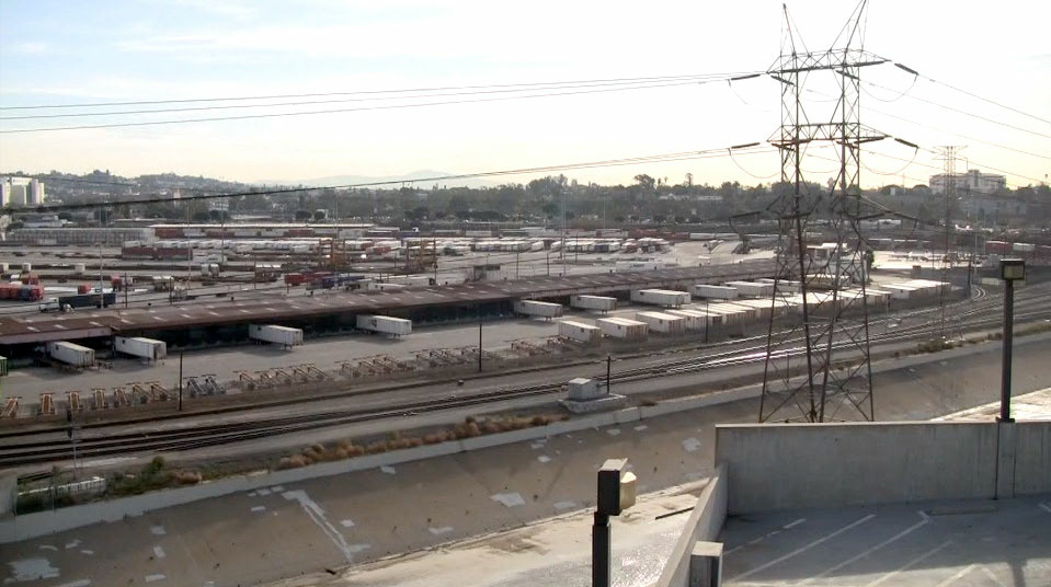 The UP yard in the present. At 125 acres, it's the largest piece of property that could get revitalized along the L.A. River.