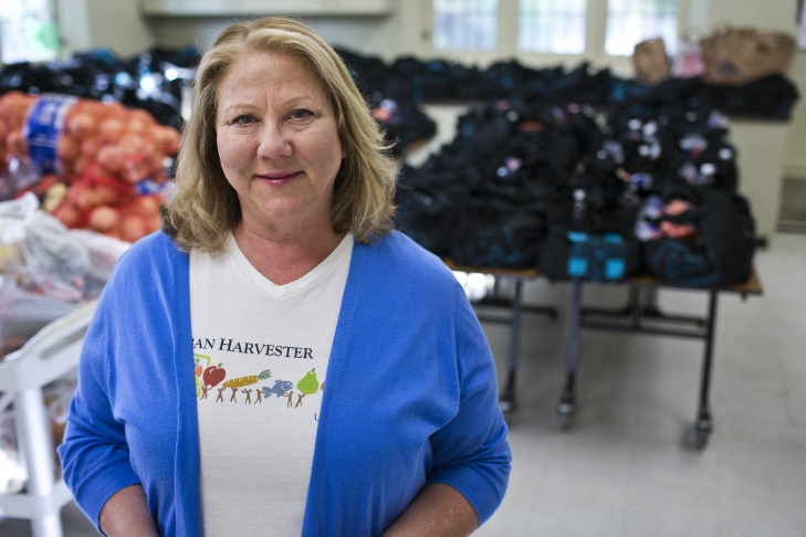 Linda Hess founded Urban Harvester in 2012, a nonprofit that connects food sources with community agencies.