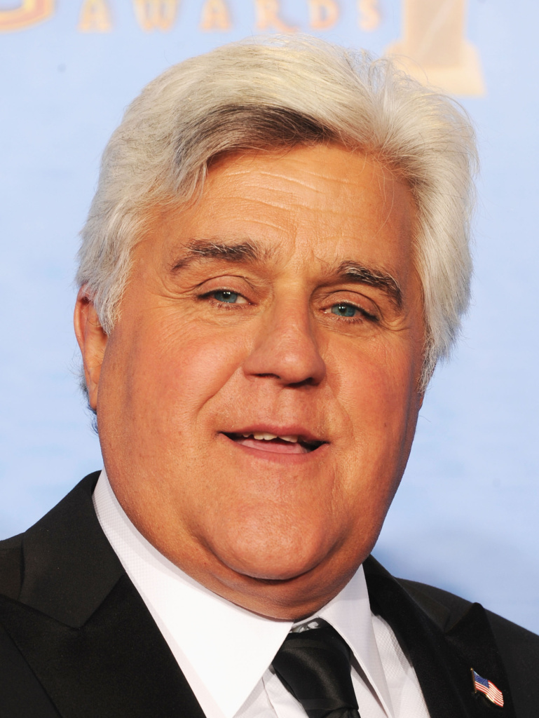 Comedian Jay Leno poses in the press room during the 70th Annual Golden Globe Awards in Beverly Hills.