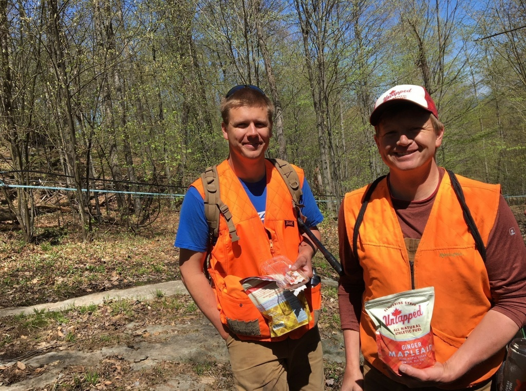 Doug Brown and his brother Roger, right, operate Slopeside Syrup in Richmond, Vt. They're challenging a proposed federal label that would say maple syrup has