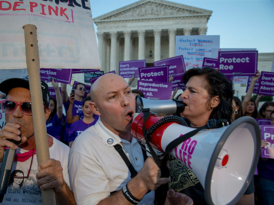 Protesters on both sides of the abortion debate demonstrated in front of the U.S. Supreme Court in July concerning Justice Brett Kavanaugh's confirmation. It is thought that a challenge to <em>Roe v. Wade</em> could have a chance of passing now that he is confirmed.