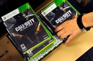 Copies of the highly-anticipated video game 'Call of Duty: Black Ops' arrive at a store in North Las Vegas, Nevada.