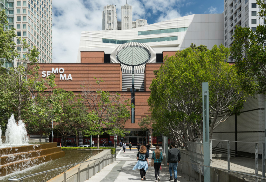 Exterior of the new SFMOMA.
