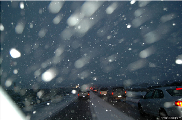 snow grapevine freeway
