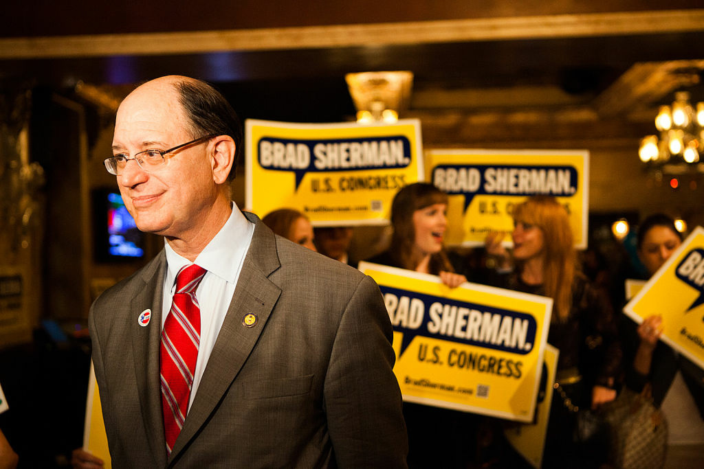 Democrat Brad Sherman has spent 15 years in congress, representing the San Fernando Valley.