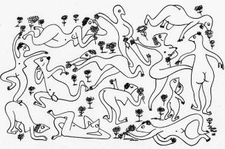 Gordon Green's 1949 drawing. Was he imagining San Francisco in 2011?