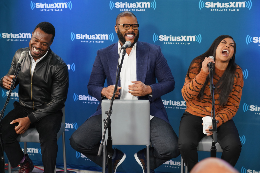 Lyriq Bent, Tyler Perry and  Taraji P. Henson take part in a live SiriusXM event with Taraji P. Henson, Tyler Perry and the cast of