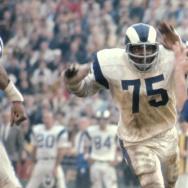Vintage image of LA Rams Deacon Jones