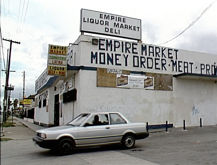 Empire Liquor in South L.A., 1991. Teenager Latasha Harlins was killed by store owner Soon Ja Du. The store never reopened after Harlins' death.