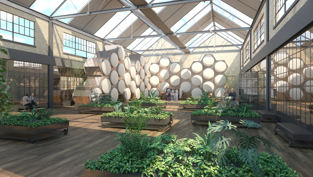 Vision of a Future Human Composting Facility, Image by MOLT Studios