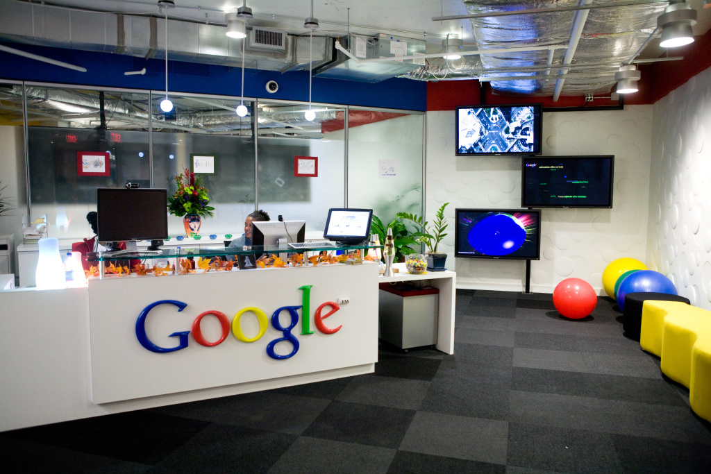 The reception area at Google's offices on December 2, 2008 in Washington, DC.