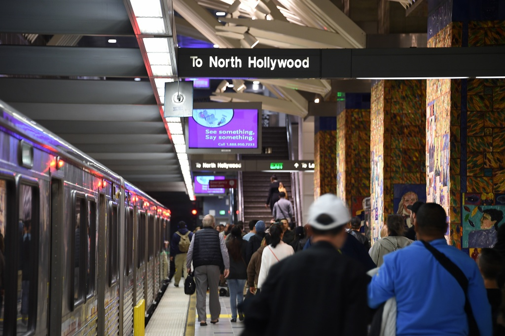 FILE: A decline in transit ridership across Southern California may be caused by rising car ownership among those who traditionally use trains and buses, a new UCLA study suggests.
