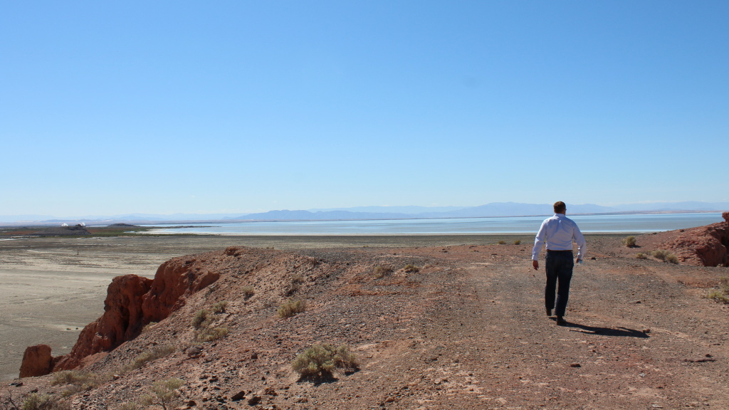 Rod Colwell, CEO of Controlled Thermal Resources, is among many hoping to transform the area around California's Salton Sea into a domestic source of lithium for electric car batteries.