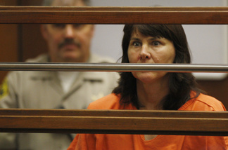 Veteran LAPD detective Stephanie Lazarus, 49, appears at the Criminal Justice Center for her arraignment on murder charges June 9, 2009 in Los Angeles, California. Lazarus is charged with the February 24, 1986 murder of Sherri Rasmussen, her ex-boyfriend's wife, the arraignment was continued.