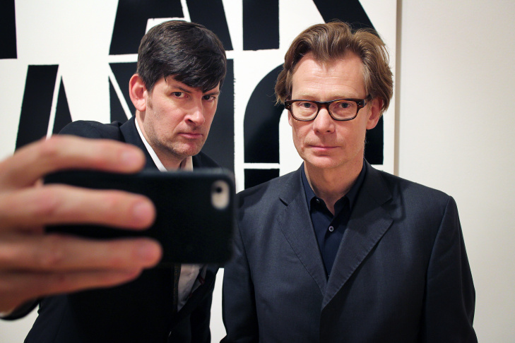 KPCC's John Rabe with the new director of the Museum of Contemporary Art, Phillipe Vergne.