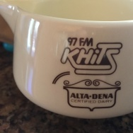 Take Two co-host A Martinez won this creamer when the late Charlie Tuna read his joke on the air many years ago.
