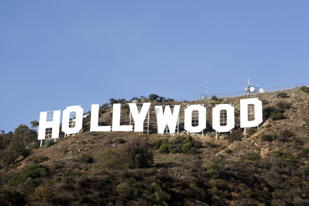The Hollywood Sign after its refurbishing.