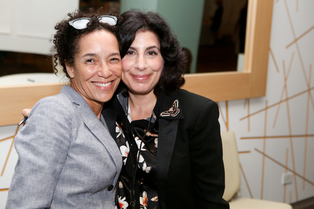 Left: Stephanie Allain- Producer, Founder of Homegrown Pictures, Right: Sue Kroll- President of Worldwide Marketing & Distribution at Warner Bros. Pictures