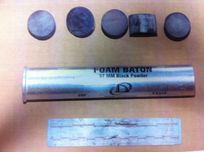 Foam rubber baton