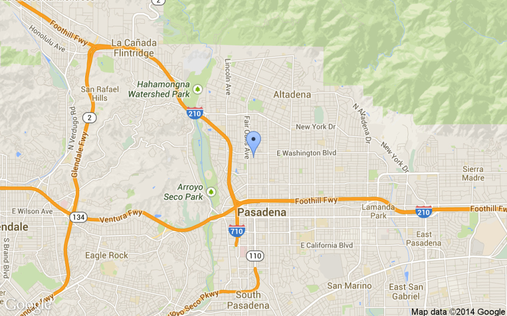 Approximate location of a shooting that left three people dead on Saturday in Pasadena.