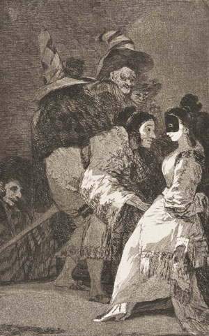 Francisco de Goya- Capricho № 6: Nadie se conoce (Nobody knows himself)