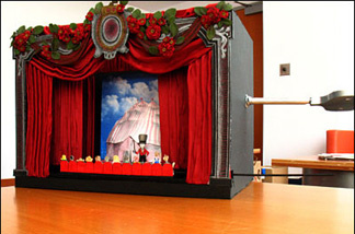 One of the Toy Theater sets to be used at the Music Center's festival.