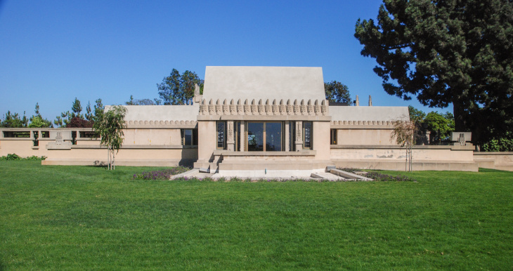 Hollyhock House at Barnsdall Park, East Hollywood, is one of 10 U.S. sites designed by American architect Frank Lloyd Wright to be nominated for the World Heritage List.