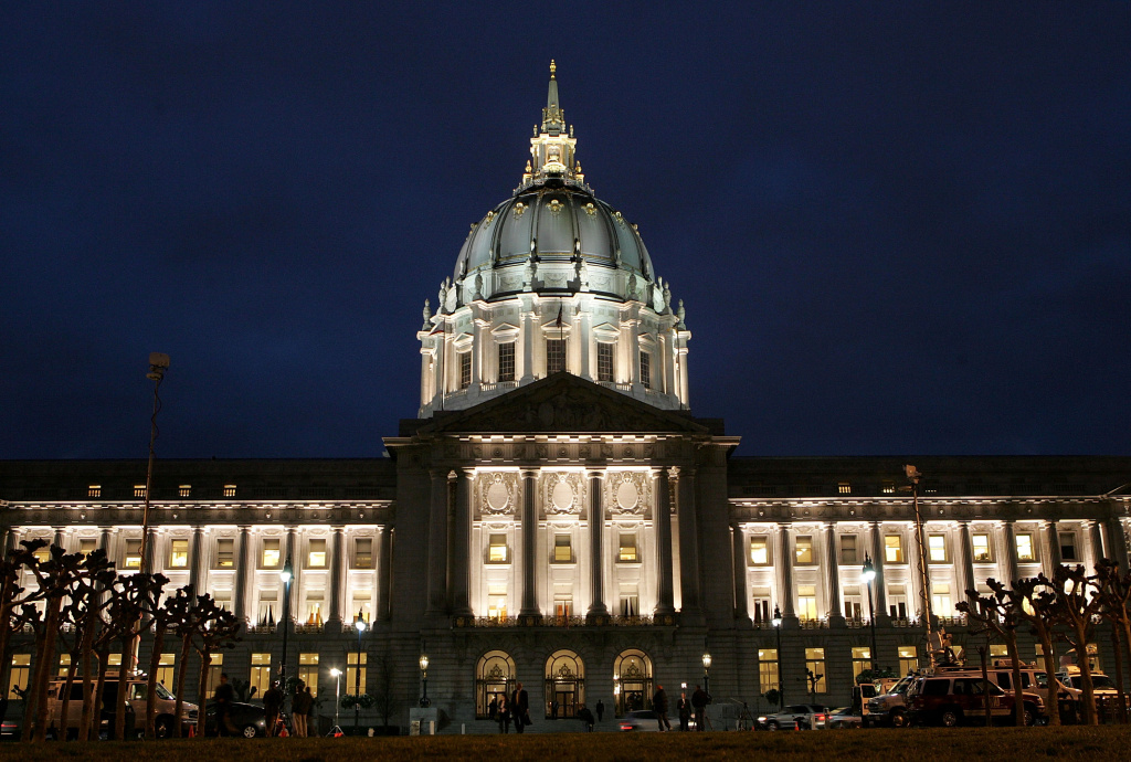 A view of San Francisco City Hall on Feb. 1, 2007.