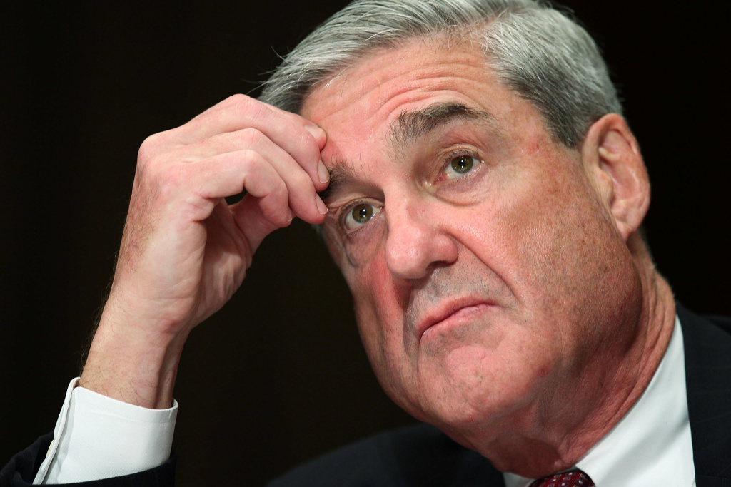 Then-FBI Director Robert Mueller testifies during a hearing before the Senate Judiciary Committee focusing on the oversight of the FBI in July 2010 on Capitol Hill.